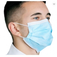 Wholesale Disposable Face Mask Blue Color With Earloop And Three Layer Protective Mask,Disposable Nonwoven Face Mask With 3 Ply from china suppliers