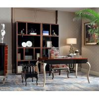 Wholesale Luxury Furniture Home office Bookcase cabient and Writing desk in Ebony wood glossy painting with Office chairs from china suppliers