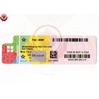 Wholesale OEM 64 Bit Windows Product Key Sticker Online Activation Globally from china suppliers