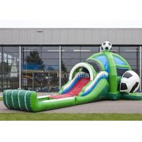 Wholesale PVC Inflatable Outdoor Sports Games Football Bouncer Slide Combo from china suppliers