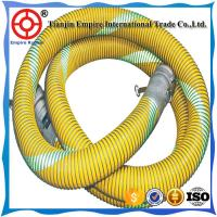 Wholesale 9 inch Yellow double steel helix  reinforced  PVC chemical composite hose from china suppliers