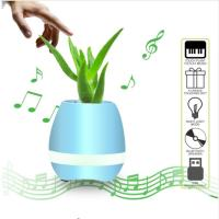 Wholesale Flowerpot Night Lamp Small Wireless Speakers Smart Piano Touch Music Singing Plant Pot from china suppliers