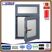Wholesale powder coating frames aluminium casement window with mosquito nets from china suppliers