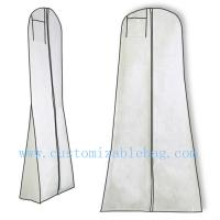China Durable White PP Non Woven Moth Proof Garment Bags With Hanger on sale