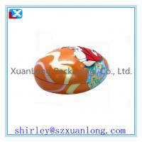 Wholesale egg-shaped candy tin box for kids from china suppliers
