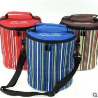 Wholesale Striped polyester insulated round lunch bag from china suppliers