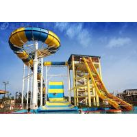 Wholesale Outdside Giant Boomerang Fiberglass Water Slide For 6 Person , Water Park Tower Height 18.75M from china suppliers
