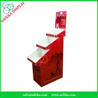 Wholesale Cardboard pop display 3 tier Customized  printed Promotion Rack Supermarket advertising shelf Cardboard trays from china suppliers
