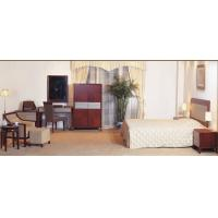 Wholesale Hotel Standard room Furniture by Bedroom Sets wiht Cherry wood and Upholstered Headboard from china suppliers