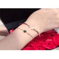 Wholesale Sophisticated 18K Gold Bangle Bracelet With Carnelian / Gemstone / Diamond from china suppliers