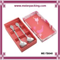 Wholesale Spoon fork knife paper box/Paper packaging spoon gift boxes/Pink cutlery paper gift box ME-TB040 from china suppliers