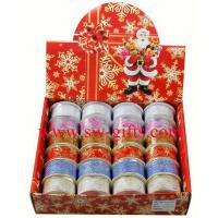 China Organza Bling Ribbon Wreath Christmas Present Weeding Wire Edged Packing Gifts on sale