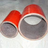 China Abrasion resistant ceramic lined pipe on sale