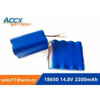 Quality 14.8V 2200mAh 4S1P 18650 battery pack 2.2Ah rechargeable battery 1C-10C for sale