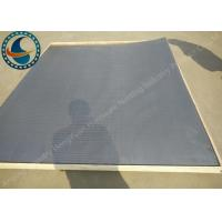 China Non Clogging Wedge Wire Screen Panels For Waste Water Long Service Life for sale