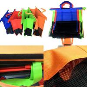 4pcs/Set Cart Trolley Supermarket Shopping Eco Bags Foldable Reusable rolley Shopping Cart shopping colors  Bag for sale