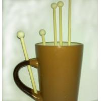 Wholesale wood coffee stirrers birch wood coffee stirring sticks with ball head 150mm from china suppliers