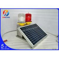 Wholesale AH-MS/R PC cover and sus304 base Solar aviation light for telecom tower, White and RED LED obstruction lightings from china suppliers