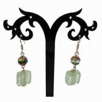 Wholesale Fashionable Drop Earrings with Resin Pendant Decoration from china suppliers