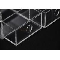 Quality Clear Commercial Store Fixtures 6 Compartments For Mix Makeup Store for sale