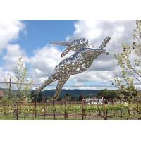 Wholesale Outdoor Large Stainless Steel Rabbit Sculpture Designed By Artist Lawrence Argent from china suppliers