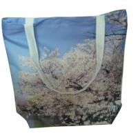 Wholesale Reusable 100% cotton fabric digital spray organic plain cotton bags from china suppliers