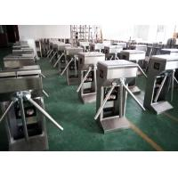 Wholesale Stainless Steel Vertical Waist High Turnstiles , Revolving Tripod Turnstile Barriers from china suppliers
