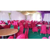 Quality Hard Aluminum Skeleton Wedding Dinner Party Tents Purple And White Lining for sale