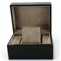 Wholesale Piano Paint Matte MDF Wooden Jewelry Box Grey Interior With Removable Cushions from china suppliers