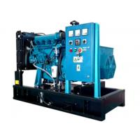 4 Cylinder Blue Color 12kw Diesel Generator Low Emission With Fuel Tank / Shell for sale