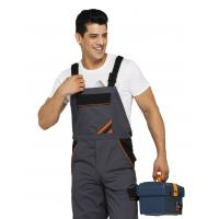Quality PRO Heavy Duty Bib Work Pants Woven Twill Fabric With Multi Storage Pockets for sale