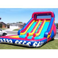 Wholesale Funny Wave Adult Size Giant Inflatable Water Slide With Pool from china suppliers