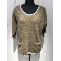Wholesale Plush Hand Feel Oversized Knit Sweaters Pullover With Wool Nylon Alpaca Material from china suppliers