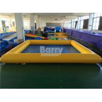 Quality PVC Tarpaulin Square Inflatable Swimming Pool For Kids / Adults for sale