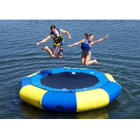 Kids And Adults PVC Inflatable Water Toys Floating Trampoline OEM / ODM Accepted