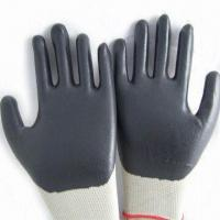 Wholesale Nylon Super fine Micro-Foam Nitrile Gloves, Liner is Shape, Various Colors are Available from china suppliers
