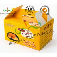 China Custom Printed Foldable Cardboard Food Packaging Boxes For Cup Cake / Dessert Packing on sale