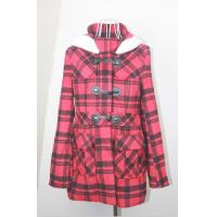 Wholesale Cute Cotton Check Trench Unique Womens Coats with Hood , Warm wool blend Clothing from china suppliers