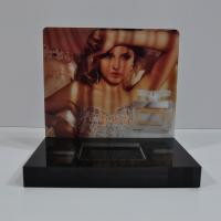 Quality CNC Cutting Perfume Acrylic Counter Display Black With Vivid Sticker for sale