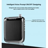 Wholesale Voice prompt on off UHF Wireless Portable Heaset Microphone Clip Black Hook Professional Voice Amplifier Speakers from china suppliers