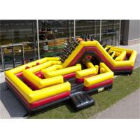 Wholesale Challenge Inflatable Obstacle Course , Adult Moon Bounce Obstacle Course from china suppliers
