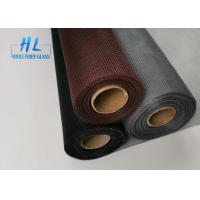 Quality Black Grey Color 30m Per roll Fiberglass wire netting For Windows for sale