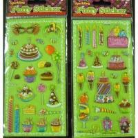 Wholesale Sparkling puffy stickers, metallic from china suppliers