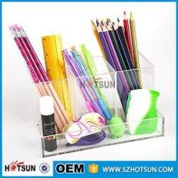 Wholesale custom Office and school sturdy clear acrylic desk organizer from china suppliers