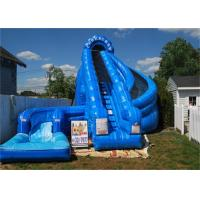 Wholesale Giant Inflatable Corkscrew Water Slide / Double Inflatable Slip And Slide With Pool from china suppliers