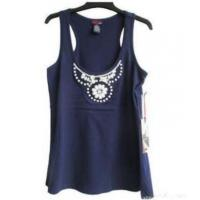 China Rhinestone Shirt Knitting Tank Top Solid Color on sale