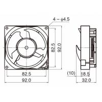 4.5Inch 92mm portable small blushless axial fan, high temperature exhaust motor cooling for cabinet chassis