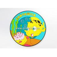 China PVC silicone round coaster custom table cup mug cartoon animal coaster custom promotional coaster for aquarium gifts on sale