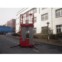 Wholesale Dual Mast Hydraulic Aerial Work Platform Manual Push Around 8 Meter Platform Height from china suppliers