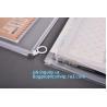 portable transparent flat bottom slider ziplock bag for cosmetic, Food grade Coex PP Slider Zipper bag, PVC Slider Zippe for sale